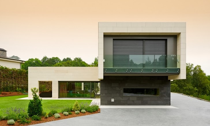 World of architecture minimalism and stone facade by Houses with stone facade