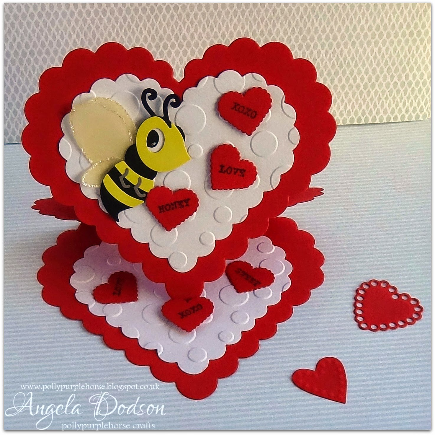 Pollypurplehorse is crafty Heart Valentines Easel Card with – Heart Shaped Valentine Cards
