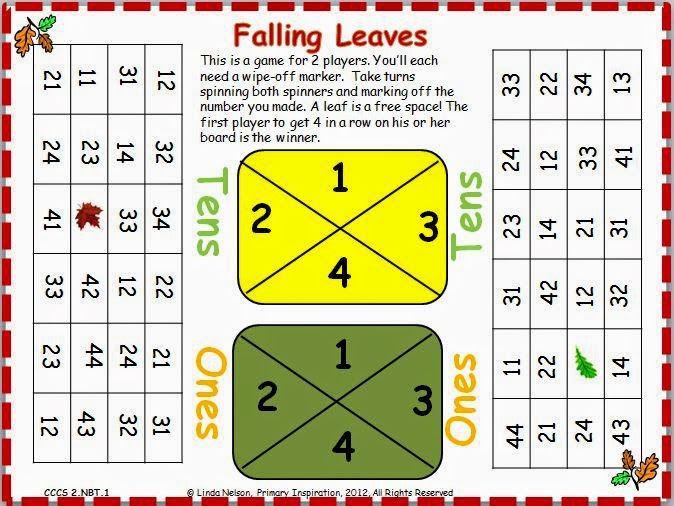http://primaryinspiration.blogspot.com/2012/09/fall-place-value-game-freebie.html