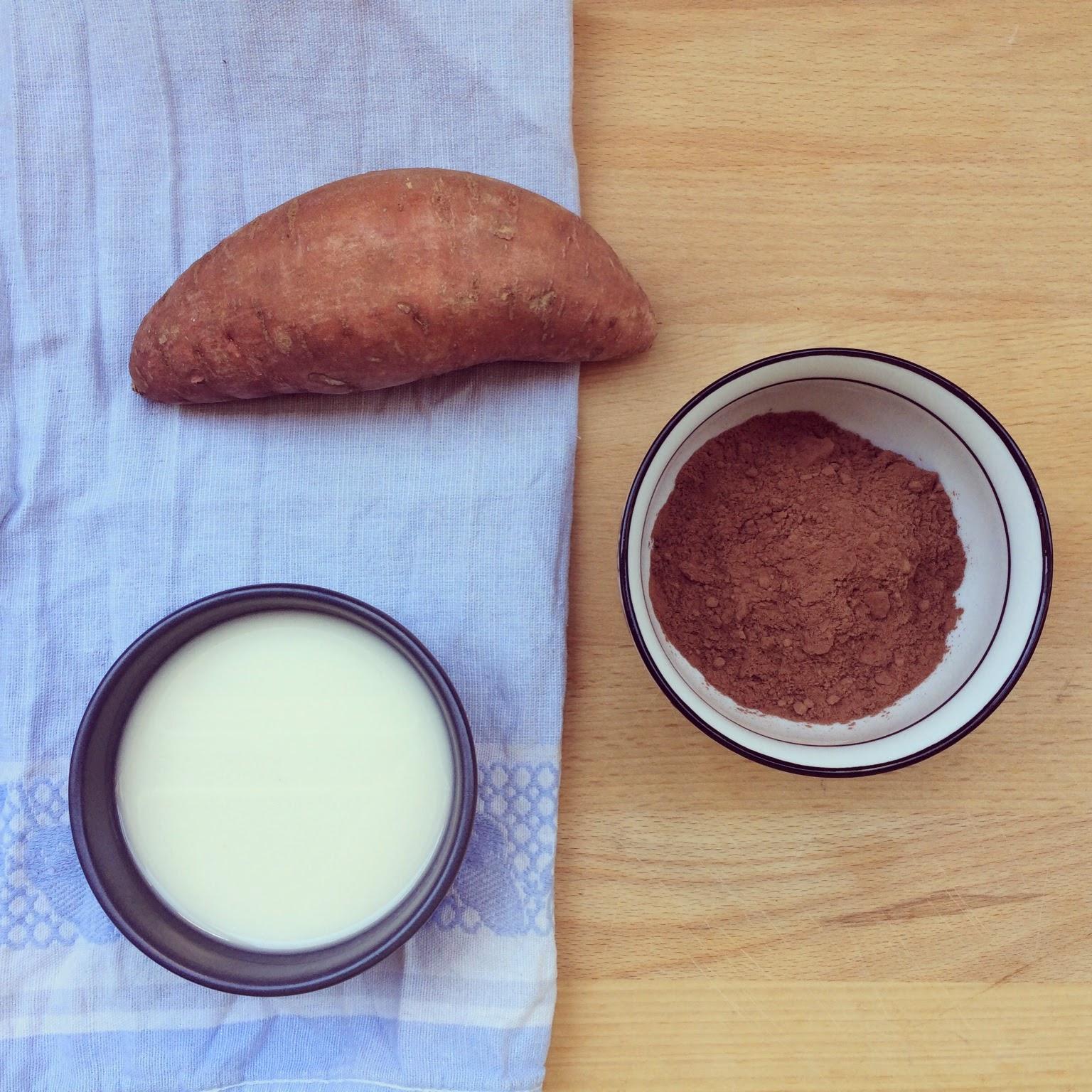 mousse chocolat patate douce
