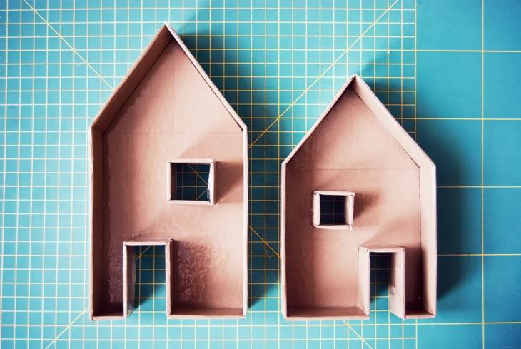 rotkehlchen diy little candleholder houses concrete. Black Bedroom Furniture Sets. Home Design Ideas