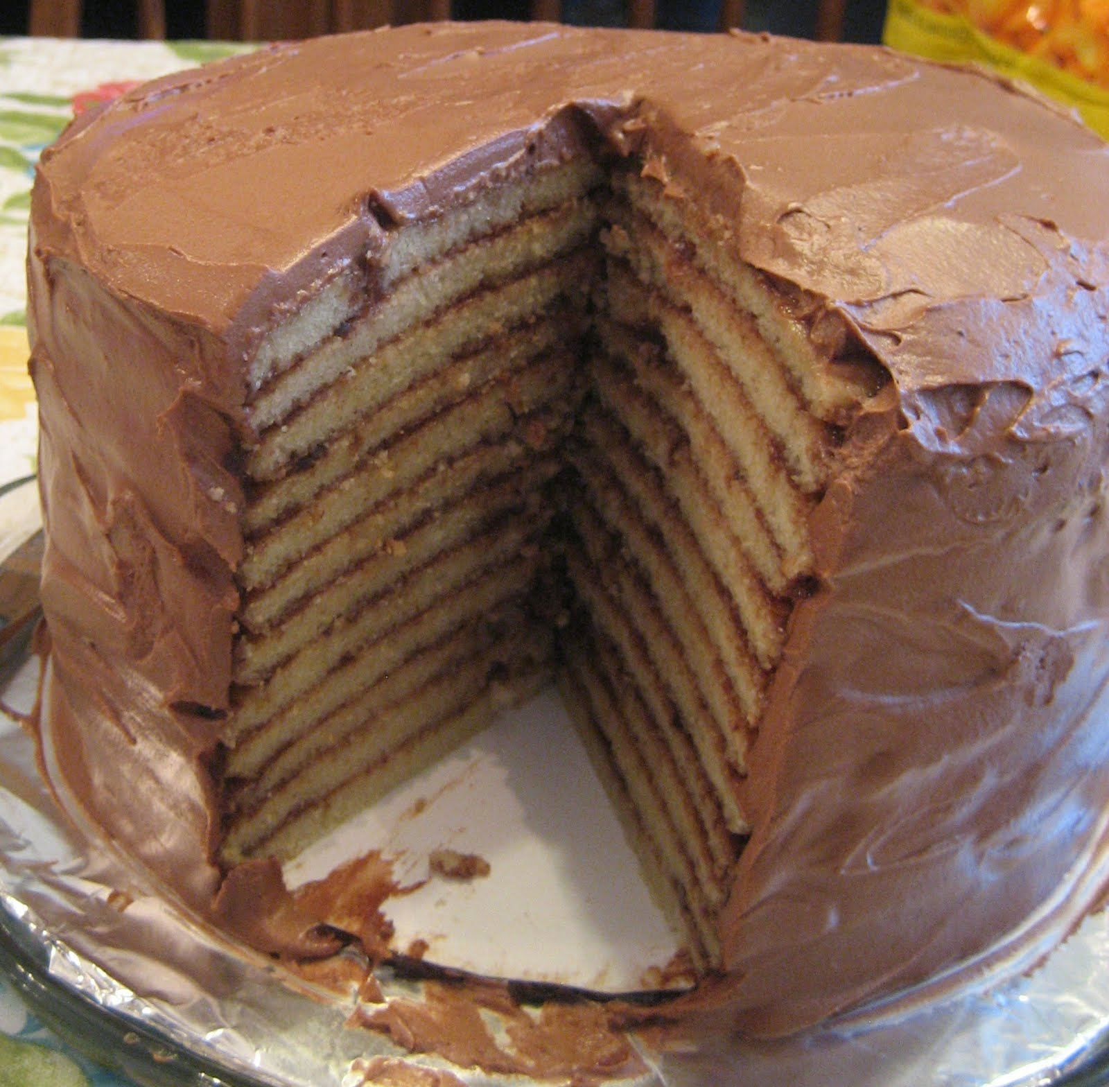 Layer Chocolate Cake With Cream Cheese Frosting