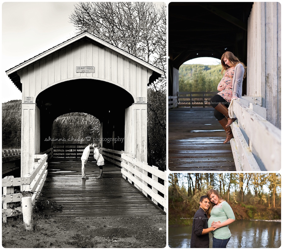 eugene springfield oregon maternity photography covered bridge
