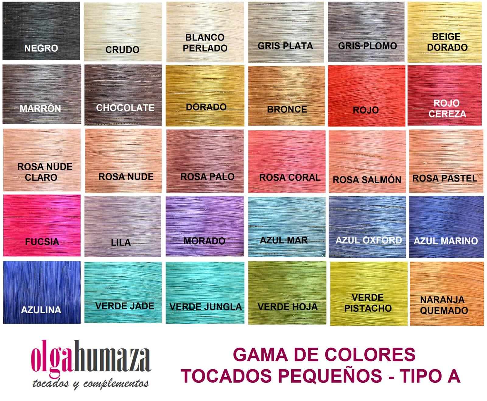 Olga humaza tocados y complementos febrero 2013 - Gama de colores rosas ...