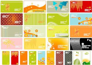 cartões de visita vetorizados grátis para download