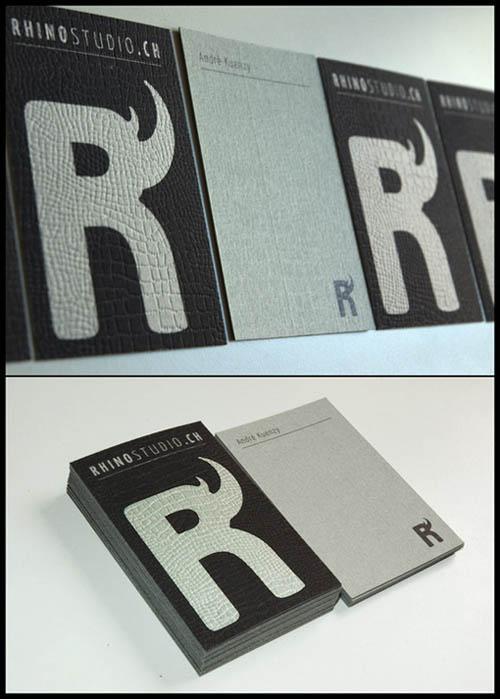 Cartões de visita criativos - Rhino Studio