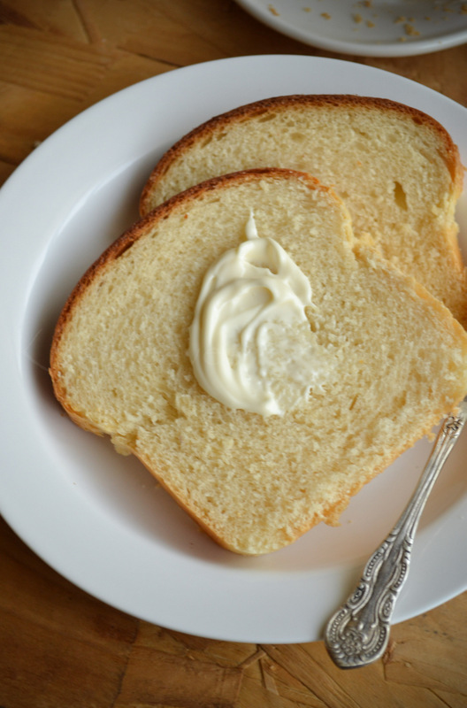 bread slice with butter