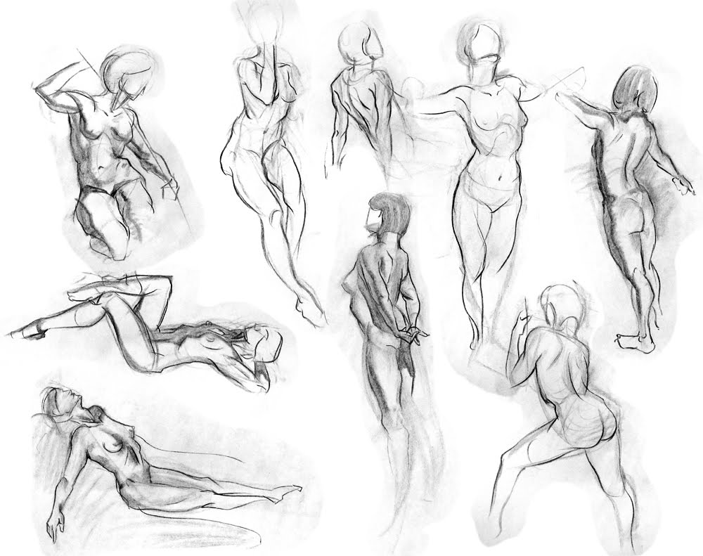 Jon Neimeister Art Figure Drawings