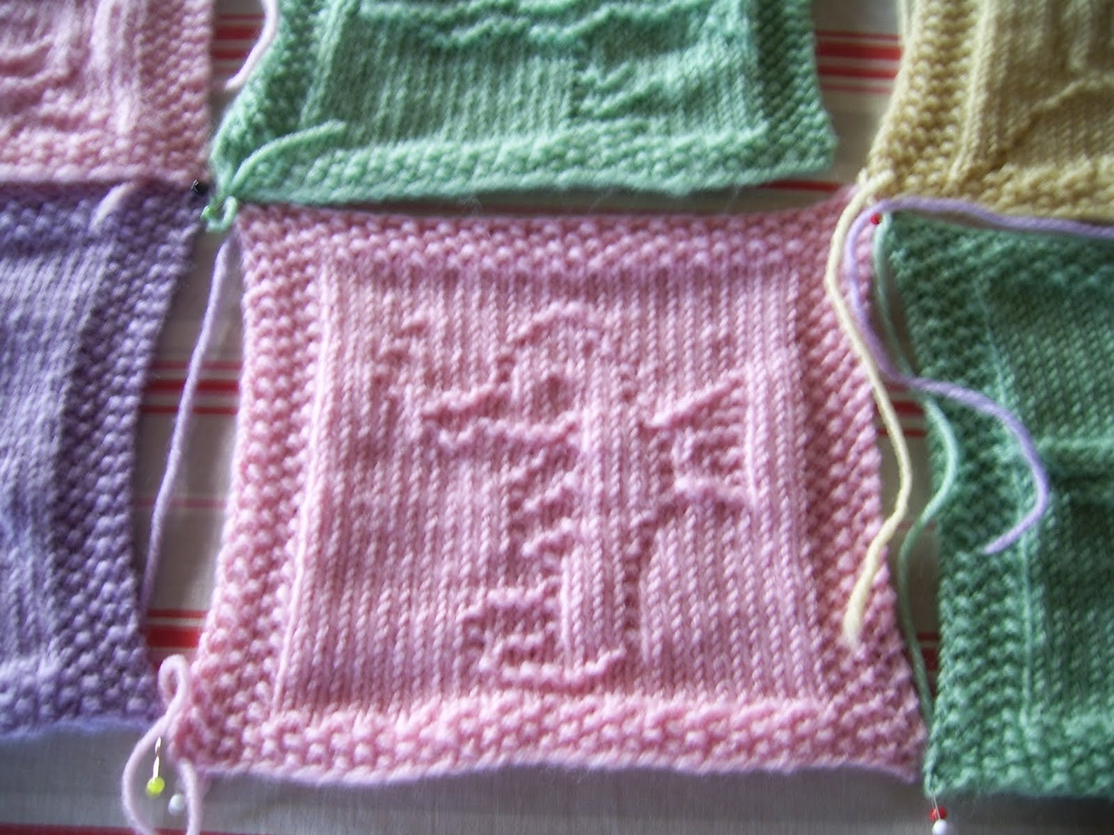 Wolldecke aus quadraten stricken : Bineshobbys nele s babydecke