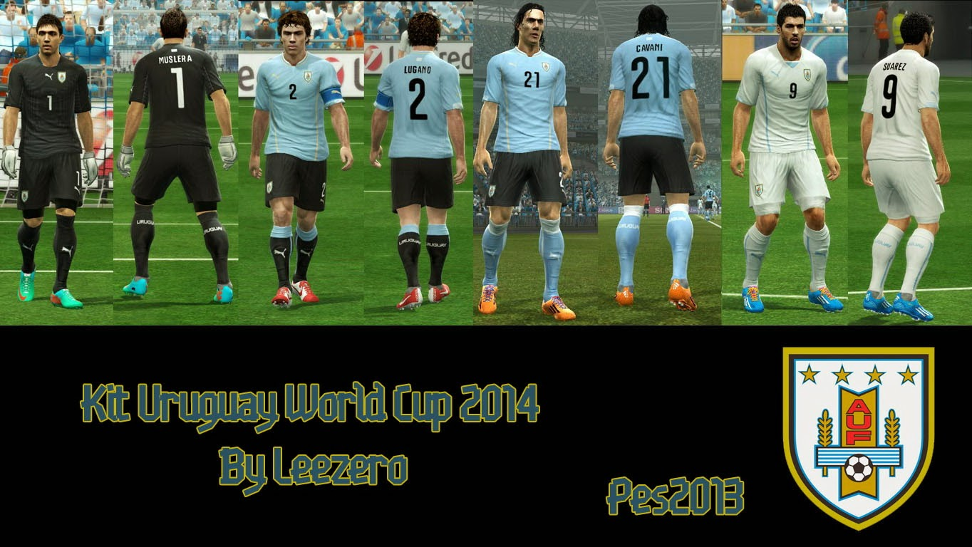 PES 2013 Uruguay WC2014 Kits by Leezero