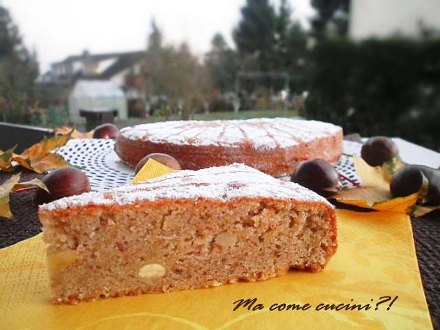 torta di castagne e mandorle