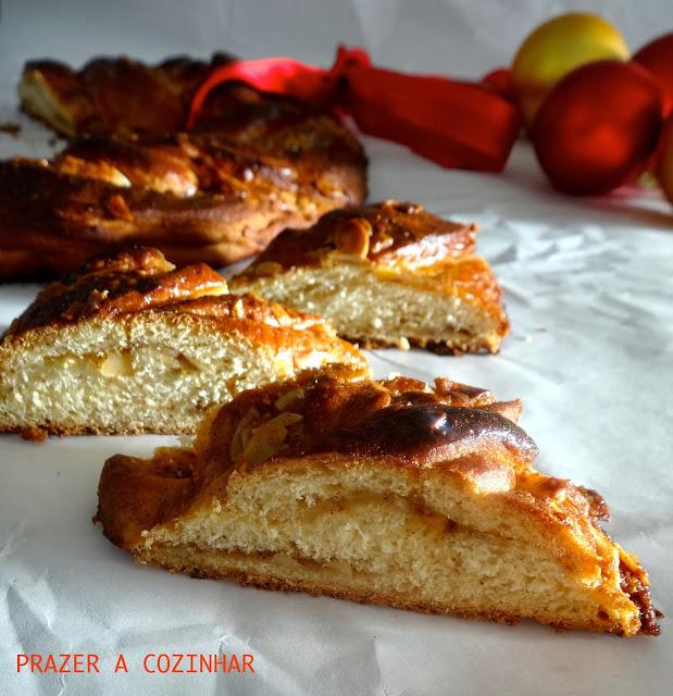 prazer a cozinhar - Coroa de cardamomo, canela, laranja e amêndoa