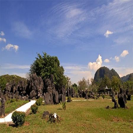 Gugusan pegunungan Karts Rammang-Rammang