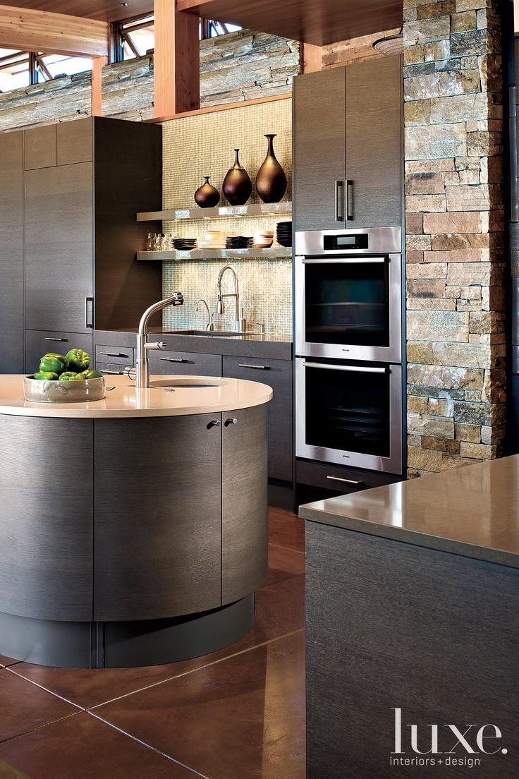 contemporary round kitchen island