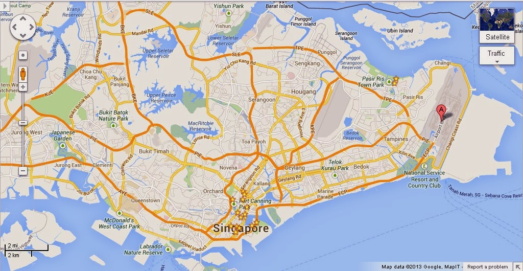 Detail Changi Swimming Pool Singapore Location Map – Tourist Map Of Singapore City