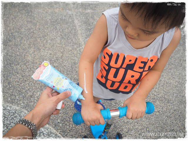 Liphop kids hypoallergenic sun protection lotion Singapore blogger sg kids, SMB