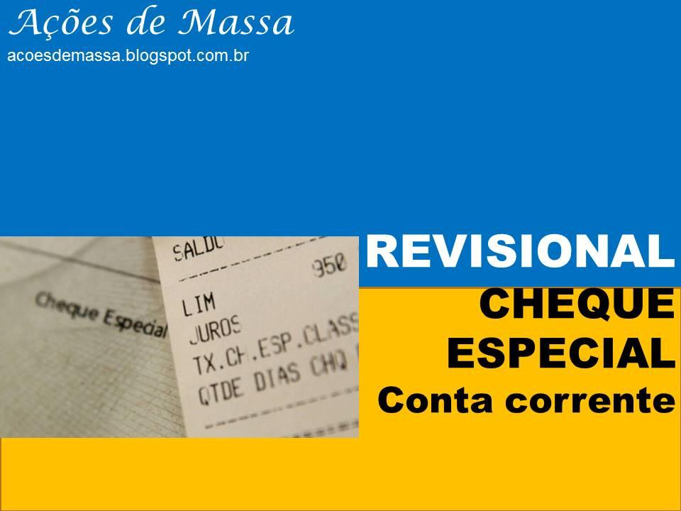 Revisional conta corrente - cheque especial