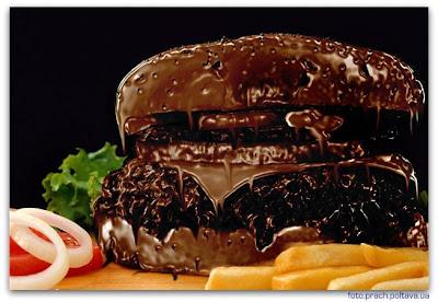 Шоколадный гамбургер
