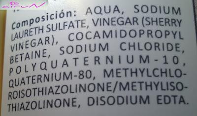ingredientes champú vinagre skinwine