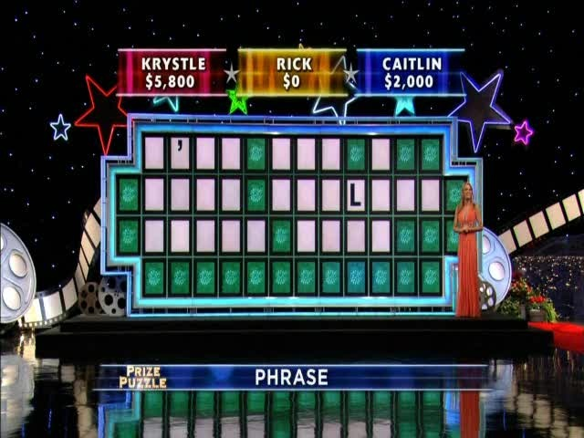 Wheel of Fortune, one letter puzzle, I've Got a Good Feeling About This