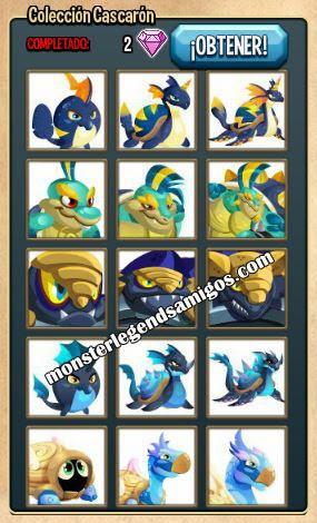 imagen de la coleccion cascaron de monster legends