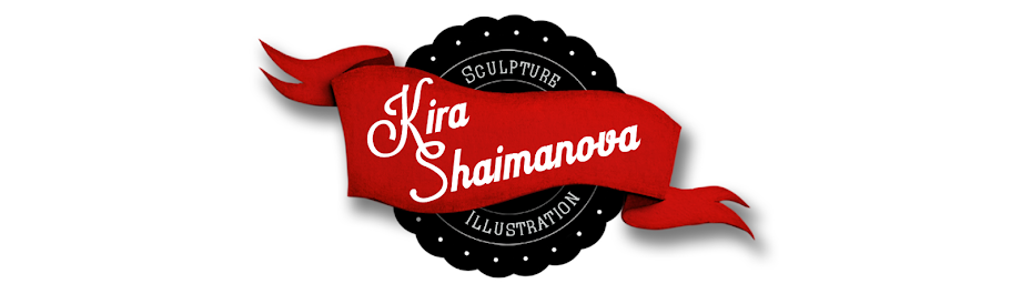 Kira Shaimanova's World of Sculpture Illustration (the creation process)