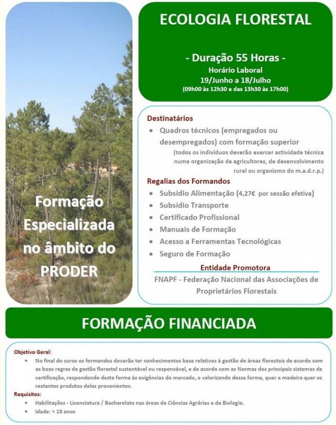 Curso subsidiado de Ecologia Florestal (PRODER) – Vale de Cambra