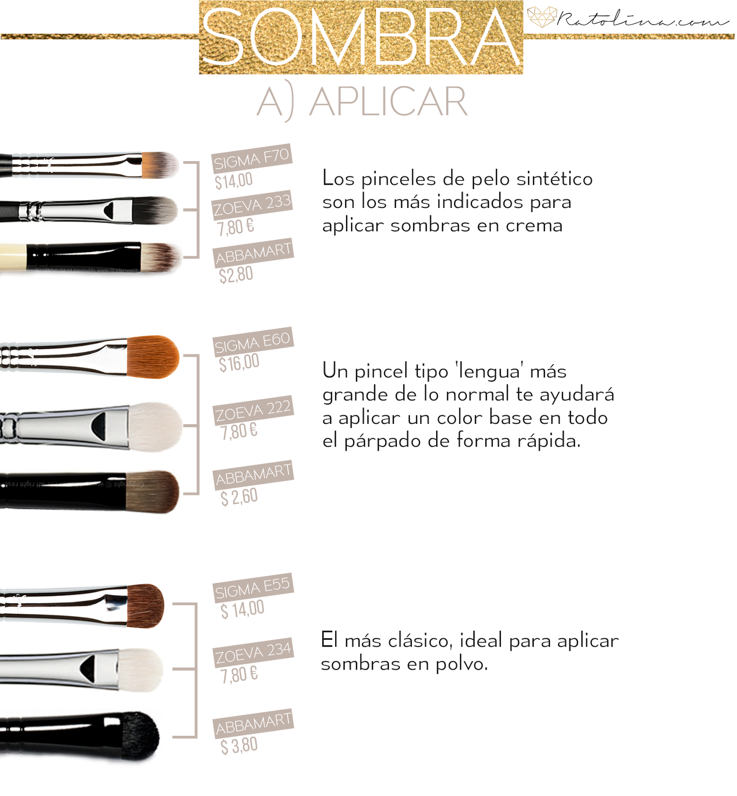 Pinceles sombras low cost