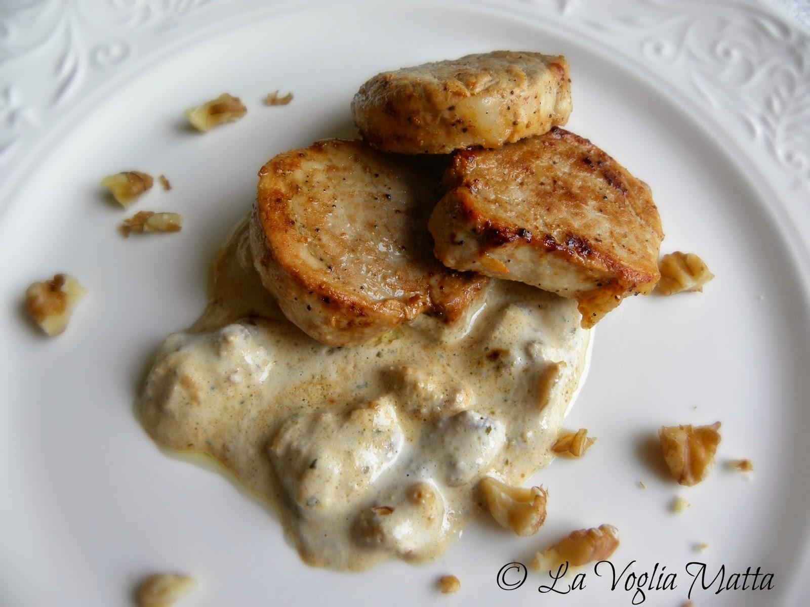 filetto di maiale con crema all'aglio orsino