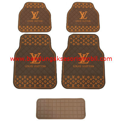 Karpet LV Dasar Coffee Motif Coklat Japan