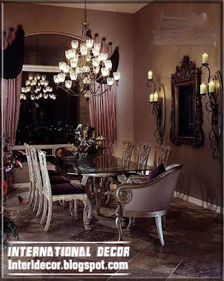 luxury Italian dining room furniture ideas, luxury curtains and window treatments