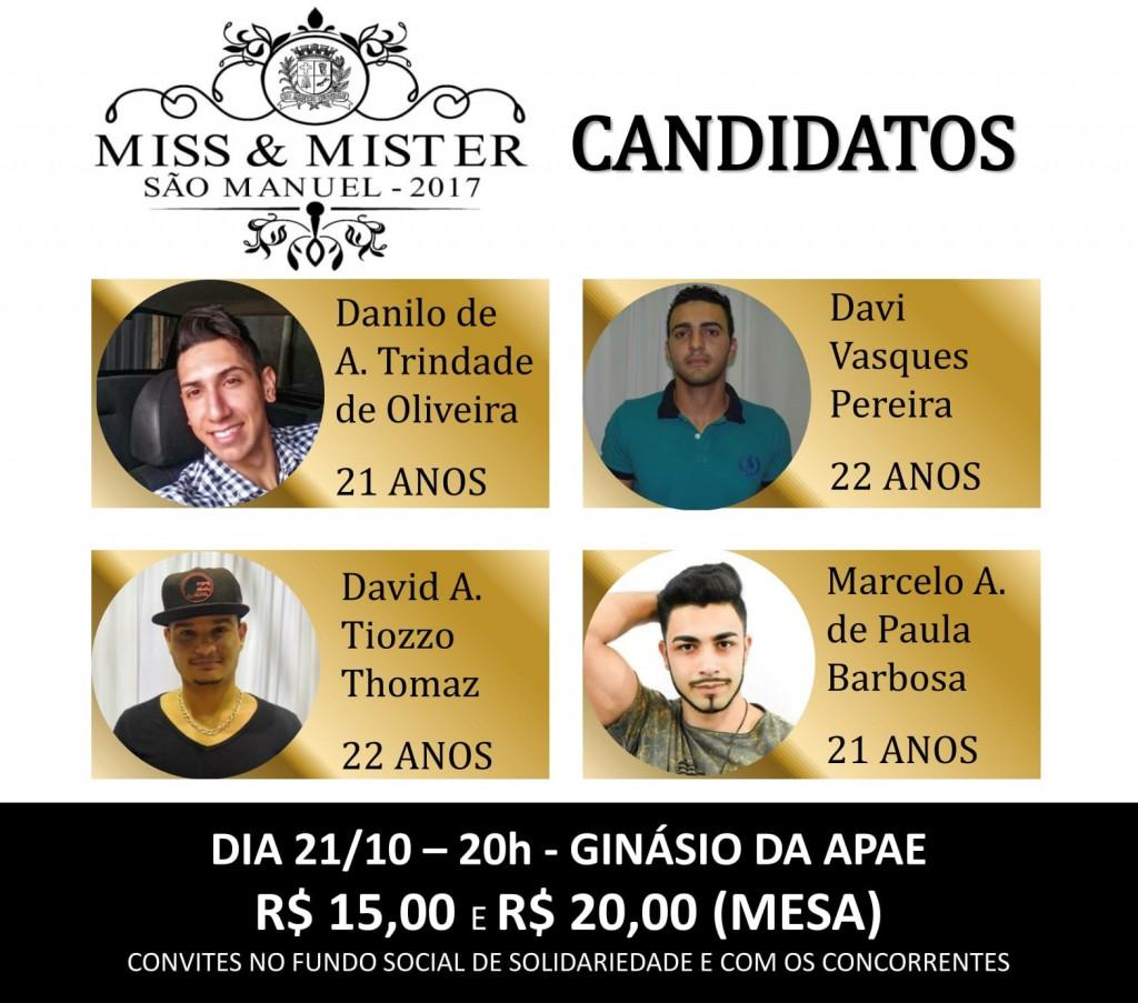 MISTER SÃO MANUEL ACONTECE NESTE SÁBADO!!!