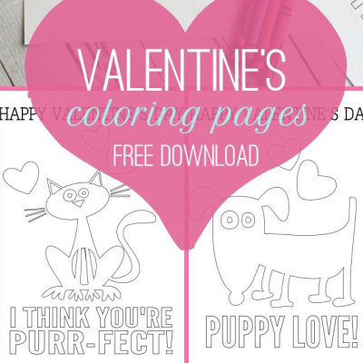 Free valentines colouring pages printable