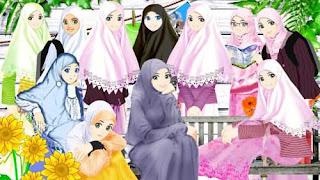 Gambar Kartun Muslimah Korea