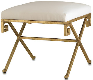 VIELLE + FRANCES GREEK KEY LEAF BENCH