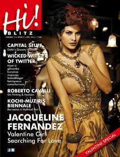 Jacqueline Fernandez on the cover of Hi! BLITZ (Feb 2013)