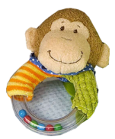 Mango Monkey rattle by Mary Meyer