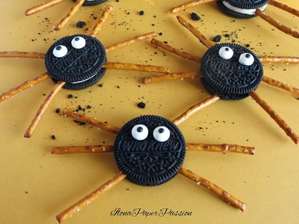 Oreo Cookie Spiders by ilonaspassion.com
