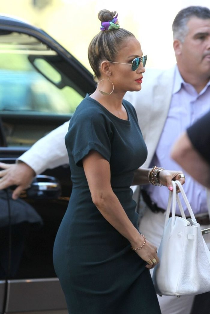 Jennifer Lopez Booty in Dress at American Idol Auditions in Boston