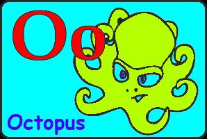 Карточка английской буквы O