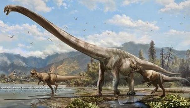 Descoberta nova espécie de dinossauro com pescoço comprido