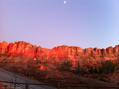 Radiator Springs Racers mountains sunset