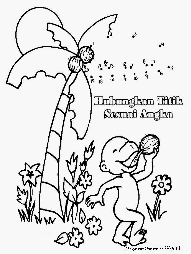 Belajar Menggambar Pohon Kelapa