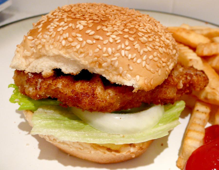 Japanese Miso Katsu Burger : A Healthy Homemade 'Mos' Burger - Carmen...