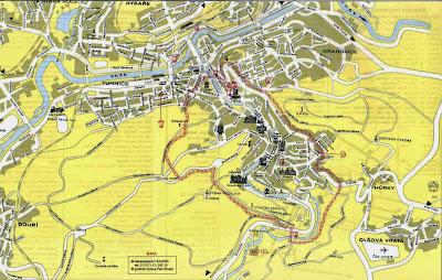 Mapa de Karlovy Vary - República Checa