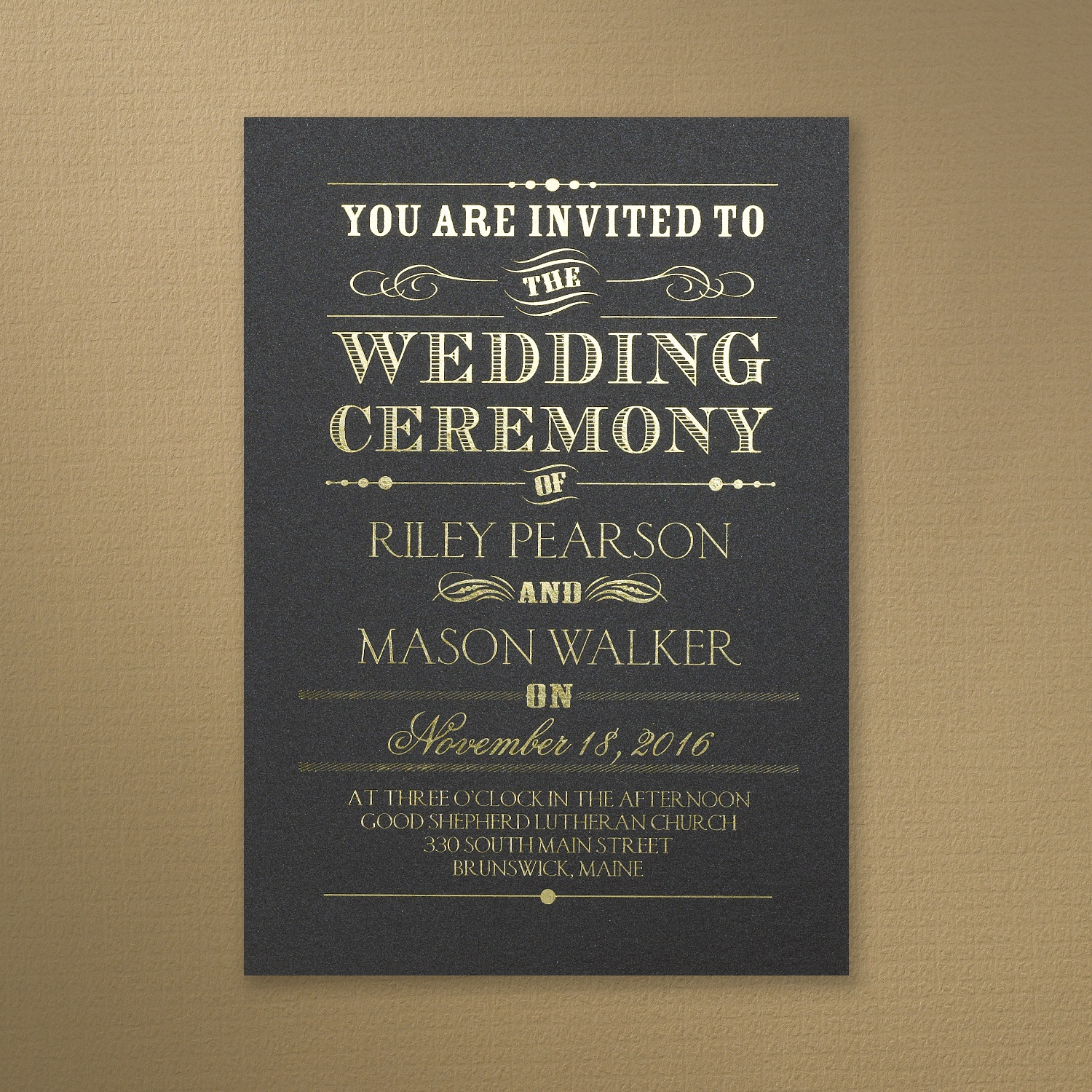 Black And Gold Wedding Invitations 028 - Black And Gold Wedding Invitations