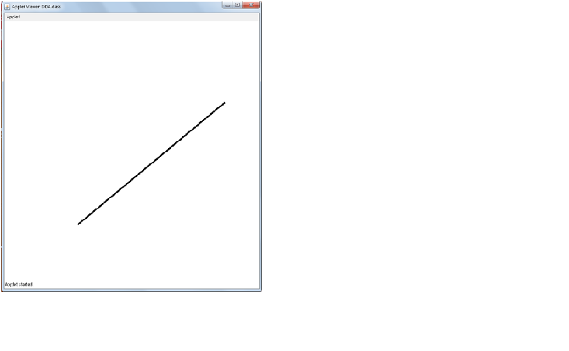 Line Drawing Algorithm Java : Source codes java c dda line algorithm