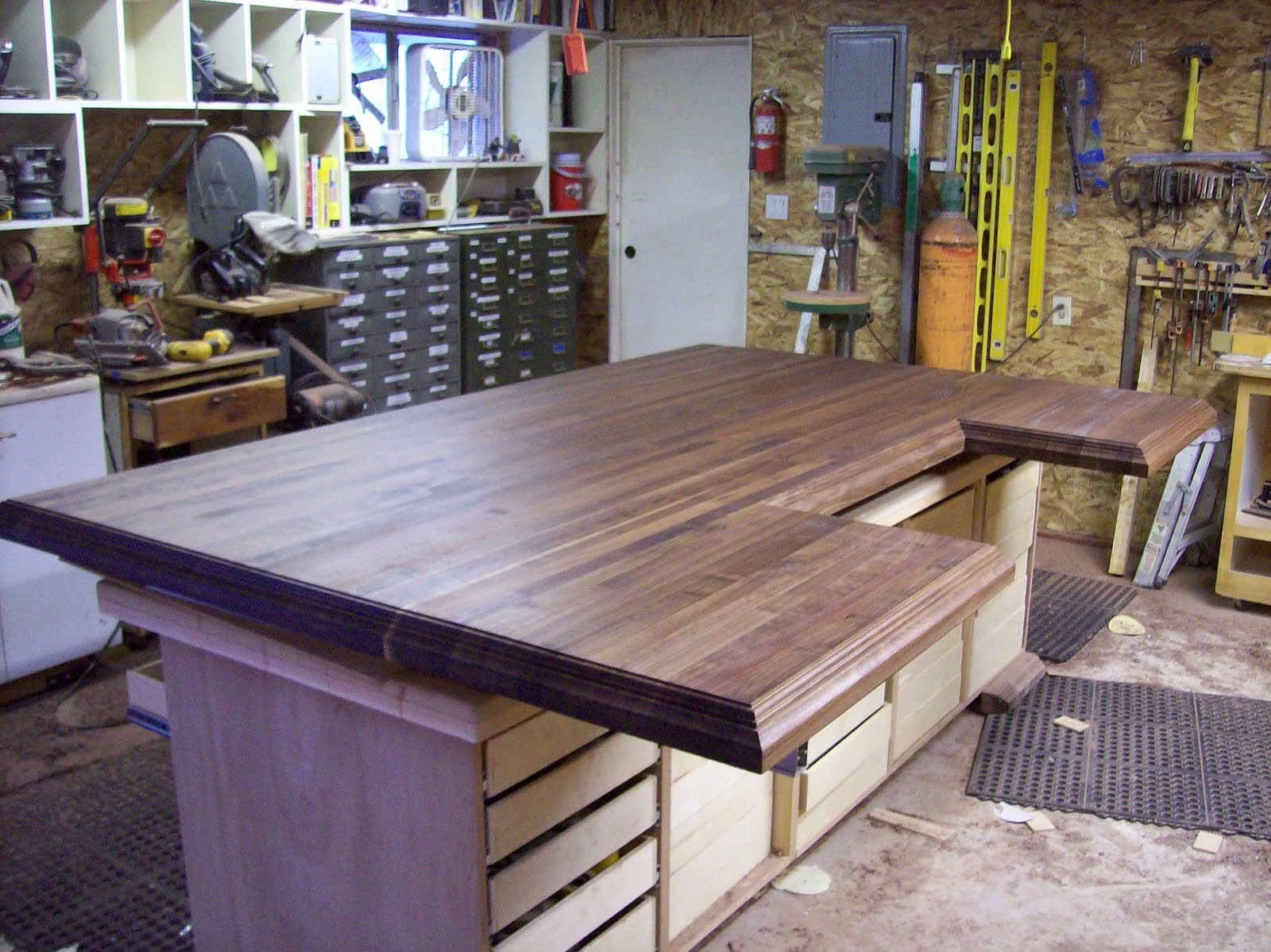 Rustic Walnut Butcher Block