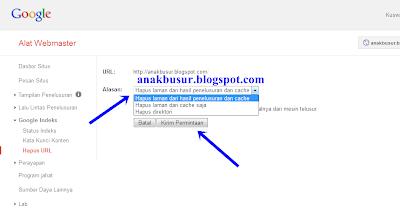 cara menghapus cache google pada blog