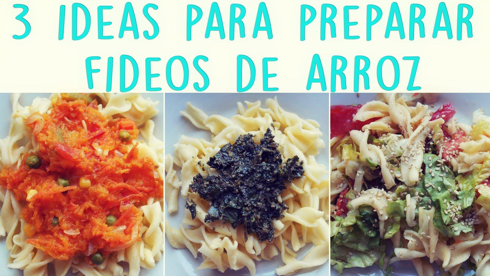 3 ideas para preparar fideos de arroz♥ ~ Lulú Cocina